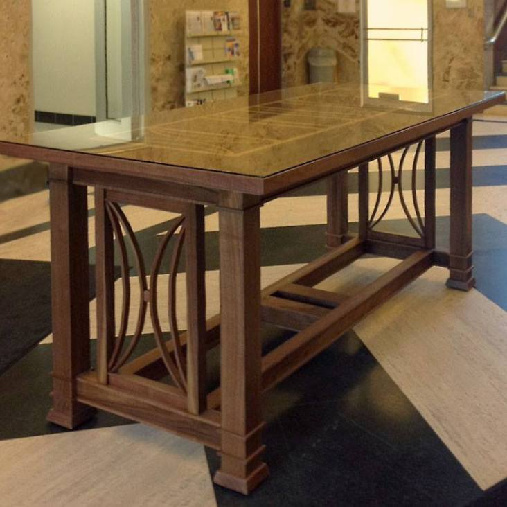 I built this walnut table in collaboration with Thomas Mudrovich, Architect, practicing in Wausau Wisconsin.