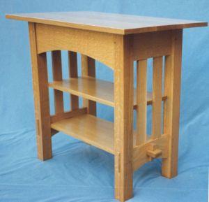 Oak Table with Shelf