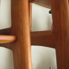 Detail of Danish Modern joined elements.