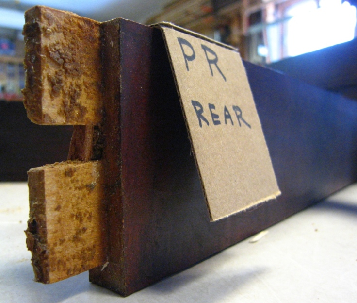 picture of ply rail tenons and adhesive