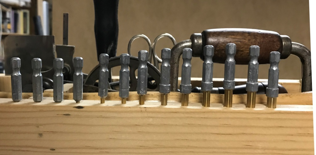 An incremental set of twist drill bits
