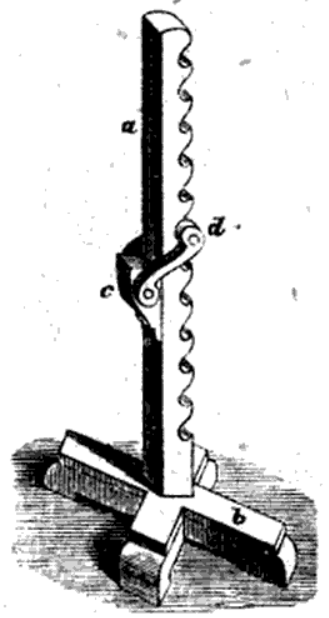 The bench slave or servant. A very useful appliance especially for restoration work.