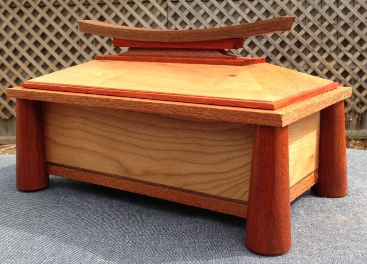 Cherry Padauk and Walnut Box