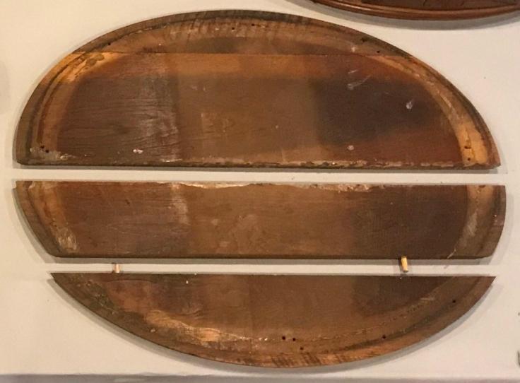 Oval Walnut Top Joint de-lamination