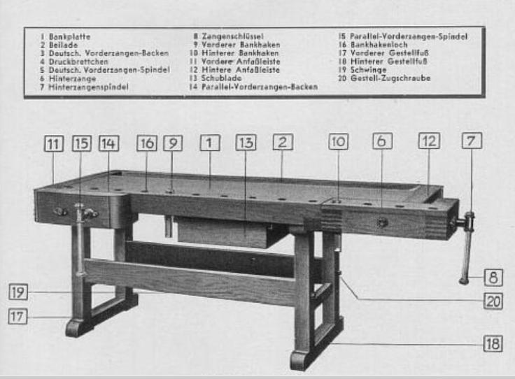 Ulmia woodworking bench